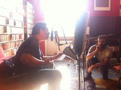 """Registrazione, con michele Mauro, di """"Lupi e lepri"""", il primo racconto del libro di Luca Ragagnin """"Musica per orsi e teiere"""" che uscirà nel novembre 2012."""