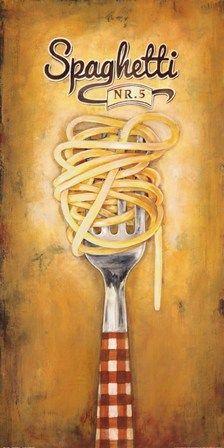 Spaghetti by Elisa Raimodi art print