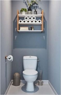 small bathroom designs and ideas 22 - censiblehome Small Toilet Decor, Small Downstairs Toilet, Toilet Room Decor, Small Toilet Room, Downstairs Bathroom, Contemporary Bathroom Designs, Bathroom Design Small, Bathroom Interior Design, Wc Decoration