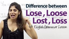 Difference between Lose, Loose, Lost & Loss - English Grammar Lesson -           Learn and improve your English language with our FREE Classes. Call Karen Luceti  410-443-1163  or email kluceti@chesapeake.edu to register for classes.  Eastern Shore of Maryland.  Chesapeake College Adult Education Program. www.chesapeake.edu/esl.