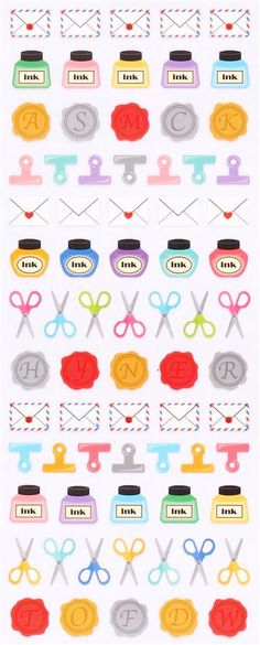 letter mail stamp stickers from Japan Crux - Cute Stickers - Sticker - Stationery - kawaii shop modeS4u