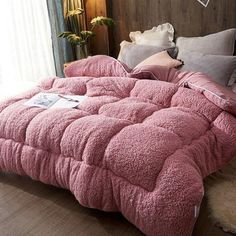 Thicken Lamb Cashmere Blanket Winter Soft Warm Bed Quilt for Bedding Twin Full Queen King Size - Bed and Bedcover Bed Comforter Sets, Queen Bedding Sets, King Size Bedding Comforters, Dark Bedding, Winter Bedding, Warm Bed, Quilt Bedding, Boho Bedding, Bedroom Decor