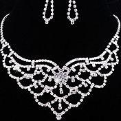 Wedding Elegant Rhinestone Crystal Earrings &... – USD $ 21.99