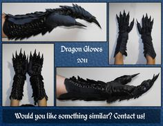 Dragon Gloves by SagandeTeam.deviantart.com on @deviantART