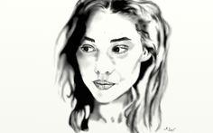 Astrid Berges-Frisbey (ceruza) 2015