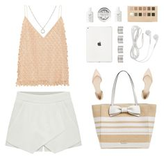 """""""Airport Chic { links }"""" by alexis-belaruano ❤ liked on Polyvore featuring Balenciaga, Kate Spade, 3.1 Phillip Lim, Forever 21, Maison Margiela, Fresh, 1928, TrickyTrend, strawbags and culottes"""