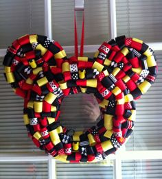Mickey Mouse Ribbon Wreath