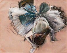 "Edgar Degas, ""Bailarina ajustándose la zapatilla"", 1887. Pastel sobre papel, Frederick Iseman Art Trust."