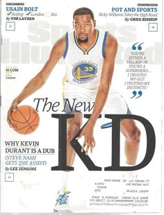 654814510a2f Kevin Durant Golden State Basketbal Sports llustrate Mag July 18 2016 U  Bolt  doesnotapply Sports
