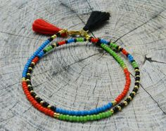 Beaded Bracelet Beaded Friendship Jewelry Tassel Beaded