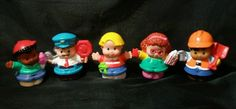 Fisher-Price Little People lot Crossing Guard Construction Maggie Eddie Michael  #FisherPrice