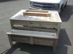 Picnic table with bench storage