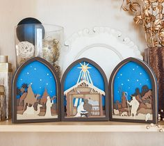 This beautifully designed Nativity Scene is definitely a show stopper with the precision and intricacy that we have come to expect from the Cricut Explore.