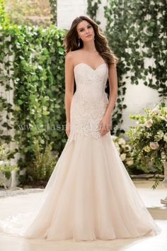 Jasmine Bridal Collection Style F181062 in Ivory/Vintage