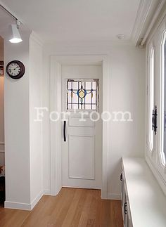 Apartment Home interior design, designed by Forroom. South Korea.  Custom made door with antique stained glass