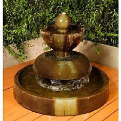 Enhance the beauty of your garden with a cascading Nova Outdoor Fountain.