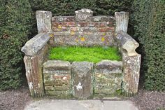 The Camomile Bench at sissinghurst - taken by Susan Branch