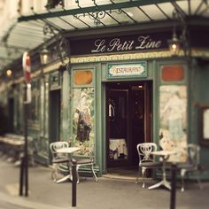 Le Petit Zinc - Paris Photograph, St Germain Des Pres, Cafe, Bistro, Chairs, Home Decor, Fine Art Print. $30.00, via Etsy.