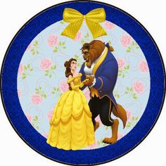 Beauty and the Beast Tin Label 1