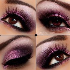 Lush Purple Eyes....I would love for someone to help me learn how to do this for my wedding!!  Come on fashionable friends...help me!!!