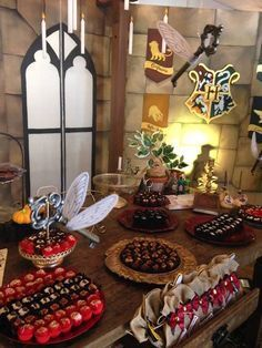 Dessert table from a Harry Potter Birthday Party on Kara's Party Ideas | KarasPartyIdeas.com (40)