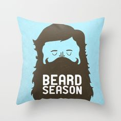 Beard Season Throw Pillow by Chase Kunz | Society6 #art  #design #awesome #print  #poster  #color  #cool  #gift  #gift #ideas  #hipster  #funny  #Illustration  #threadless  #drawing  #girls  #beautiful #humor