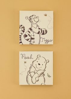 a Bear Named Pooh Canvas Wall Piece Tigger And Pooh, Winnie The Pooh Nursery, Bear Nursery, Pooh Bear, Girl Nursery, Nursery Room, Nursery Ideas, Baby Room, Bedroom