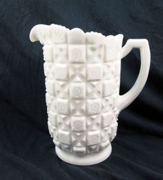 Vintage Westmoreland Old Quilt Water Pitcher by vintagegoodness