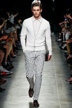 Bottega Veneta Spring 2014 Men's Collection    Pants and cardigan