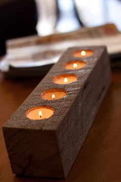 Selling these on my Etsy shop! Reclaimed Wood Sugar Mold Candle Holder by bleachphoto on Etsy, $18.00