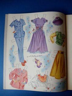 Vintage-1950-JUNE-ALLYSON-Paper-Dolls-Book-Whitman-970-UNUSED-Original June Allyson, Paper Dolls Book, October 7, Costumes, The Originals, Celebrities, Books, Vintage, Celebs