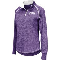 Colosseum Women's TCU Horned Frogs Purple Bikram Quarter-Zip Top, Size: Medium