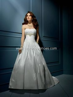 8db29f8bed2 Alfred Angelo Sapphire Bridal Gown Style Shantung Rhinestones