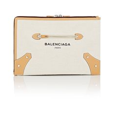 Balenciaga Women's Belharra Pouch (58270 RSD) ❤ liked on Polyvore featuring bags, wallets, nude, pouch wallet, balenciaga wallet, white bags, nude bag and pouch bag