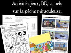 La pêche miraculeuse : Ilustrations, BD, mimes, jeux, activités de caté :