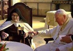 Pope John Paul II and Sister Maria Lucia at Fatima