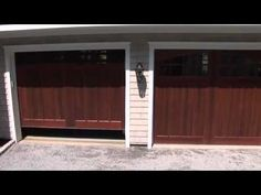 "Clopay wood garage doors video - ""Designers Tell All"" from the Hamptons Designer Showcase Home sponsored by Traditional Home magazine. Carriage House Garage Doors, Wood Garage Doors, Traditional Home Magazine, Custom Wood, Traditional House, East Coast, Curb Appeal, The Hamptons, Designers"