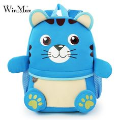 2018 New Cartoon School Bags For Boys Bear Pattern Backpacks Kid Small Bag  Kindergarten Backpack For 45afe709f81e5