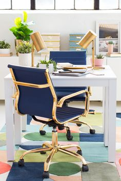 Modern Interiors Bright Office E Inspiration Workehome Desksoffice
