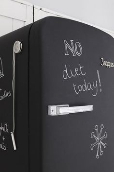 Chalkboard fridge!!!