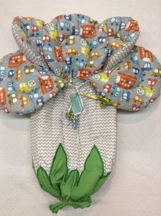 Baby boy baby bunting gray and white chevron outside with multi colors autos inside