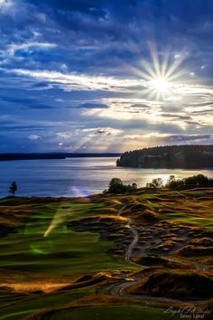 Next year's U.S. Open host, Chambers Bay golf course on Puget Sound, Washington