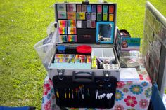 Outside Compact Setup for Face Painting & Balloon Twisting Small Face Paint Kit