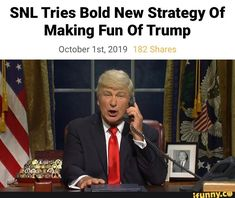 SNL Tries Bold New Strategy Of Making Fun 0f Trump October1st,2019 – popular memes on the site iFunny.co #saturdaynightlive #tvshows #snl #tries #bold #new #strategy #of #making #fun #trump #pic