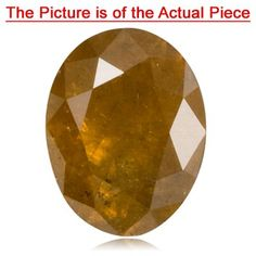 0.55 Cts of 5.7x 4.3 mm I3 quality Oval Natural Golden Brown Diamond ( 1 pc ) Loose Diamond Get Rabate