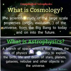 Cosmology and astrophysics - Science Astronomy Facts, Space And Astronomy, Astronomy Science, Earth Science, Life Science, Theoretical Physics, Quantum Physics, Cool Science Facts, Fun Facts