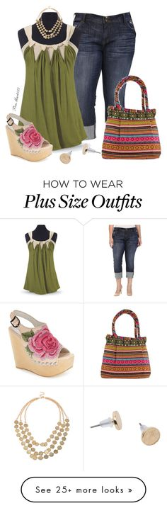 """""""Day by Day #Plussize"""" by penny-martin on Polyvore featuring KUT from the Kloth, Jeffrey Campbell and NOVICA"""