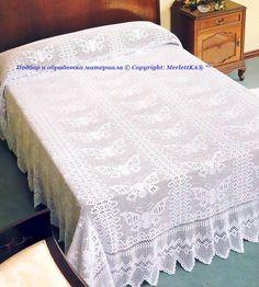 Crochet - técnica filete ~ polillas voladoras velo. Discusión sobre LiveInternet - Servicio de Rusia diarios online