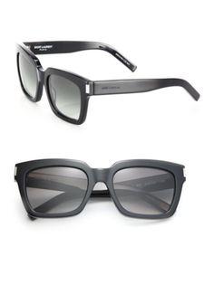 bff04090fcf Saint Laurent - Bold 1 Thick Square Sunglasses Saks Fifth Avenue