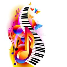 Colorful Music Notes With Piano Keyboard And Butterfly. Stock Vector - Illustration of organ, colorful: 101772626 Colorful Music Notes With Piano Keyboard And Butterfly. Stock Vector - Illustration of illustration, organ: 101772626 Music Painting, Music Artwork, Musik Clipart, Musik Wallpaper, Musik Illustration, Butterfly Background, Butterfly Music, Music Notes Art, Music Symbols